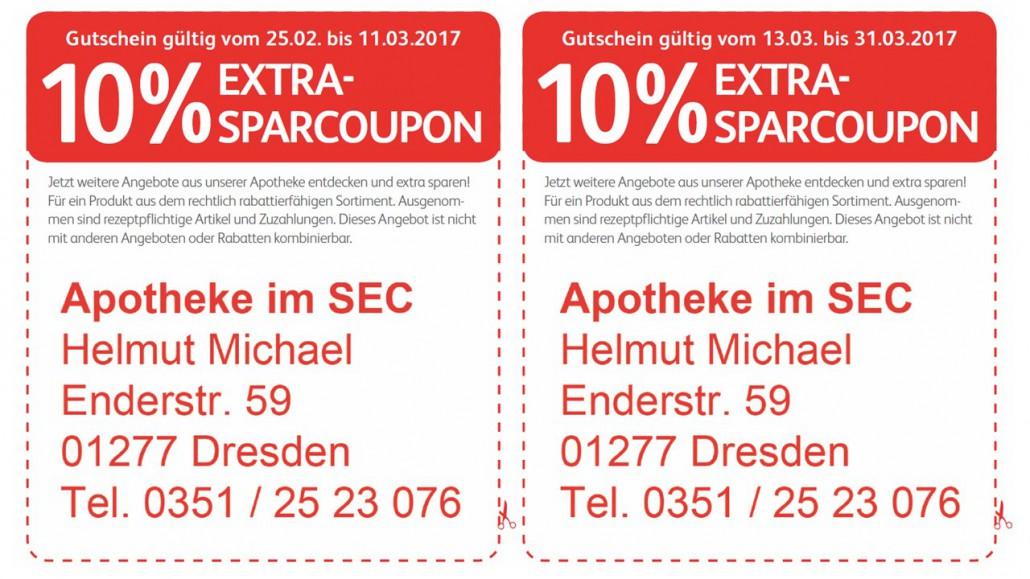 Rabatt Coupon Apotheke März 2017
